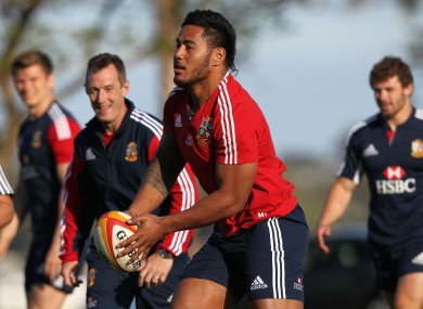 Tuilagi during the training session at Langley Park, Perth.