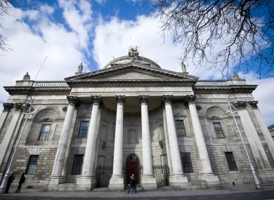 A general view of the exterior of the Four Courts in Dublin city centre, which houses the High Court and the Supreme Court and civil cases
