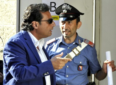 Francesco Schettino arrives for his trial in Grosseto today