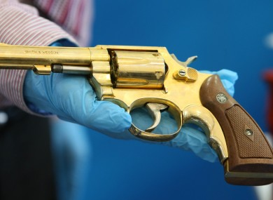 Golden revolver recovered by Gardaí during investigation into dissident.