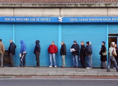 Social welfare office in Dublin (File photo)