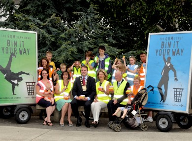 Mayor Dermot Looney with members of Rathfarnham Tidy Towns
