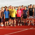 The RAC gang at training at Dunlo Track in Ballinalsoe. (Pic: Running Against Cancer/ Facebook)