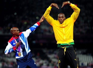 Bolt and Mo Farah will hope to do their talking on the track at this week's World Championships.