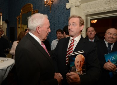 Bill O'Herlihy at the launch of his autobiography with Taoiseach Enda Kenny.