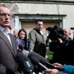 Sinn Fein's Gerry Kelly at the controversal parade by Sinn Fein. Pic: Julien Behal/PA Wire
