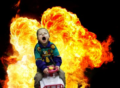 A child so hyperactive he caused an explosion.