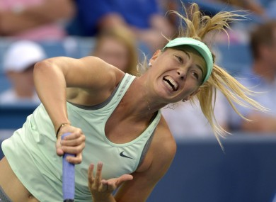 Maria Sharapova serves during her loss to American Sloane Stephens on Tuesday.