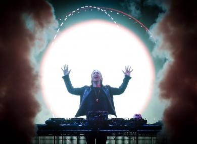 Guetta performing in London