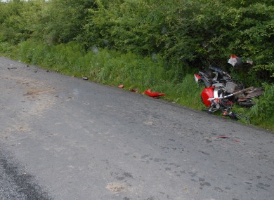 Gardaí released this image of a bike involved in a fatal crash to illustrate the rising death toll on our roads
