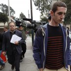 Michaella's brother, Keith, met with her last night ahead of today's trial. (AP Photo/Martin Mejia)<span class=
