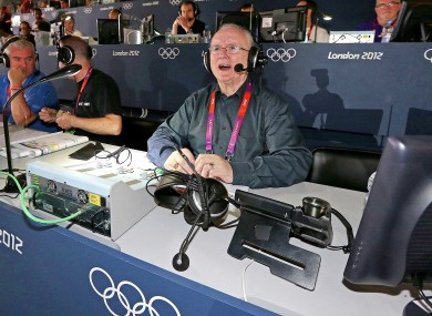 RTE's Jimmy Magee commentating on Katie Taylor's gold medal in London last year.