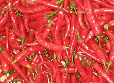 Not the actual chillis the man was found among.