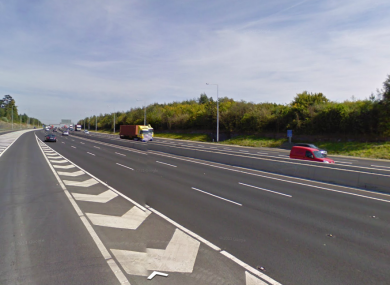 The crash that happened between exit 5 and 6 - Finglas and Blanchardstown.