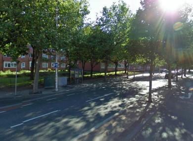 The corner of Aungier Street/Cuffe street (view of Cuffe Street)