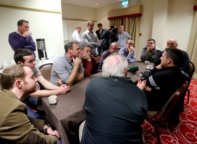 Davy Fitzgerald speaks to the press early this week.