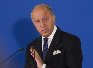 France's Foreign Minister Laurent Fabius