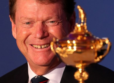 Tom Watson will put the fate of the US Ryder Cup team in Tiger Woods' hands in 2014.