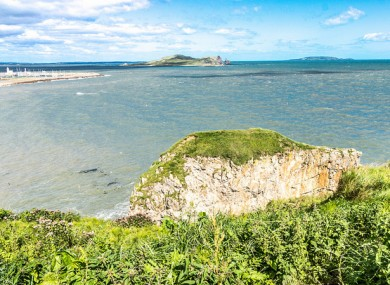 View of Howth Harbour from near Balscadden Road
