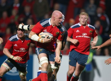 Paul O'Connell goes on the charge against Newport Gwent Dragons.