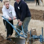 Kevin Doran and his daughter Toni compete in the under 40 horse plough class.<span class=