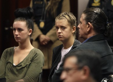 Michaella McCollum Connolly and Melissa Reid in court last month