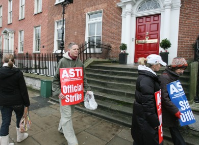 File photo of an ASTI strike in 2009.