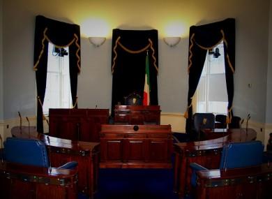 The Seanad Éireann chamber