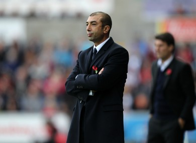 Former West Brom and Chelsea manager Roberto Di Matteo.