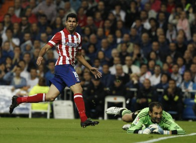 Diego Costa scores the only goal of the game.