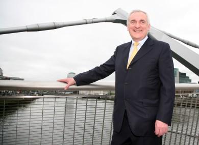 Then-Taoiseach Bertie Ahern on the Séan O'Casey Bridge in 2007