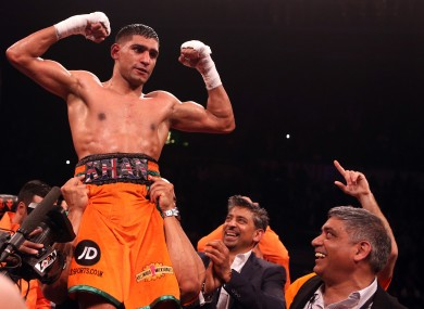 Khan: training in America ahead of fight with Alexander.