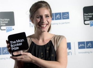 Eleanor Catton all smiles after winning the Man Booker Prize for Fiction.