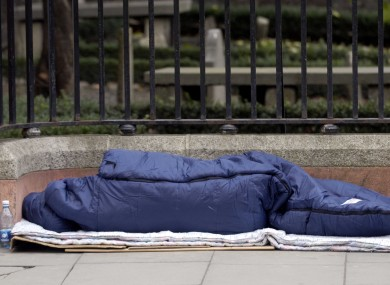 The Dublin Simon Community reported an 88 per cent increase in people sleeping rough in Dublin this year.