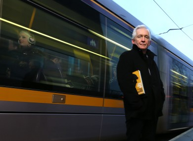 Irish journalist David Walsh with the book the film is based upon.