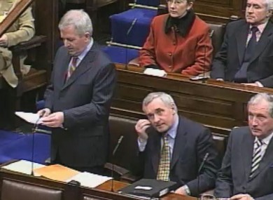Charlie McCreevy delivers Budget 2004