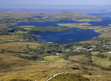 Connemara, Diamond Hill and Ballynakill Harbour.