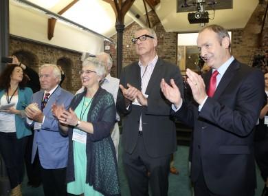Senators Feargal Quinn, Katherine Zappone, John Crown and Fianna Fáil leader Micheál Martin.
