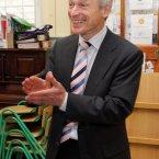 Richard Bruton votes on Referendum at Drumcondra National School, Drumcondra, Dublin.<span class=