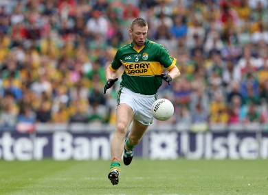 In full flight: Tomás Ó Sé was a mainstay in the green and gold.