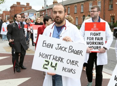 Junior doctors on the picket line earlier this month.