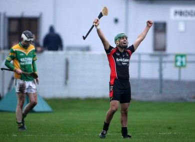 Keith Rossiter celebrates Oulart's victory.