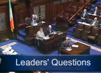 The Dáil chamber