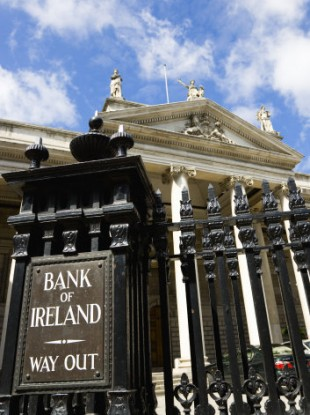 The Bank of Ireland on College Green Dublin