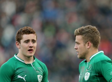 Paddy Jackson starts at out-half with Ian Madigan in reserve.