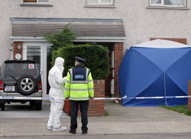 Scene outside the house where Michael Gannon was killed.