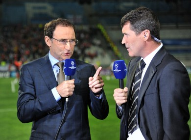 John Delaney confirmed that Roy Keane (right) was Martin O'Neill's choice as his assistant manager.