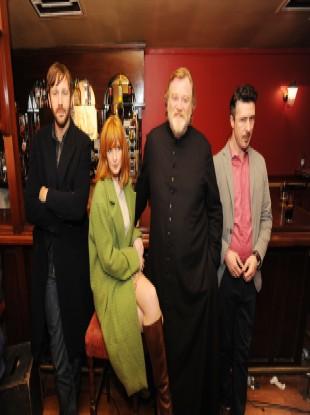 The stars of Calvary: Chris O'Dowd, Kelly Reilly, Brendan Gleeson and Aidan Gillen