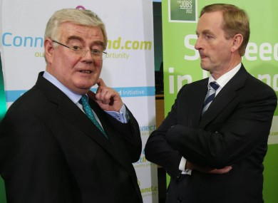 Tánaiste Eamon Gilmore and Taoiseach Enda Kenny