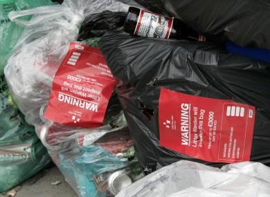 Illegally dumped household waste outside St Teresa's Gardens flats in Dublin
